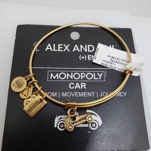 NWT Alex and Ani Monopoly Car Bangle Gold